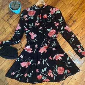 NWT Beautiful Black Floral Reformation Dress
